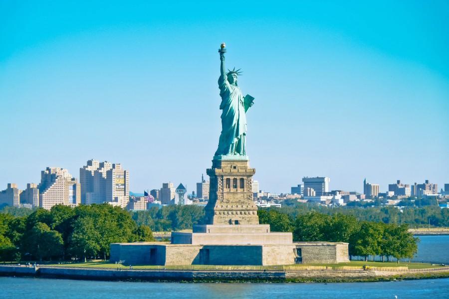 Manhattan, Monumento, Ciudad de Nueva York, Nueva York, Patriot, Politica, Estados Unidos, America, Estatua, Stokpic, Estatua De La Libertad, EE.UU., arquitectura, epica, cielo, viaje,