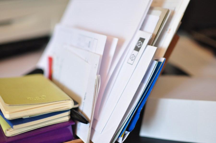 escritorio, oficina, carta, cartas, papel, papeles, trabajo, mucho, interior, pila, libre, agenda, tarea, tareas, trabajar,