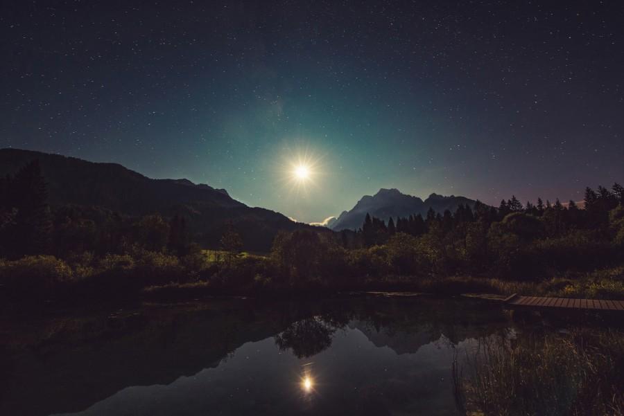 estrella, noche, sol, atardecer, nadie, brillante, luz, cielo, nocturno, paisaje, naturaleza, mistico,