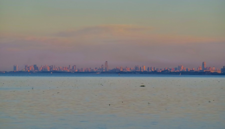 Buenos Aires, atardecer, costa, ciudad, rio de la plata, america, sudamerica,