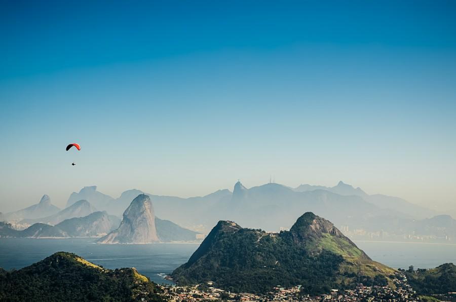 Rio De Janeiro, Capital, Dia, Verano, Bahia, Guanabara, ciudad, Paisaje, America Del Sur, America, Latino, Brasil, Morro, AlaDelta, Deporte, America Latina,