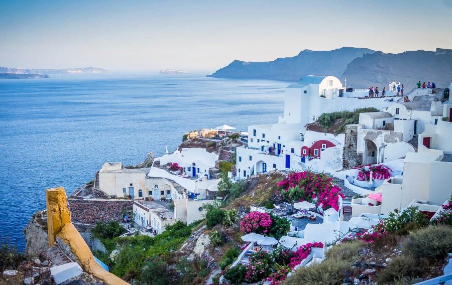 grecia, europa, santorini, isla, paisaje, arquitectura, costa, mar, destino, vacaciones,