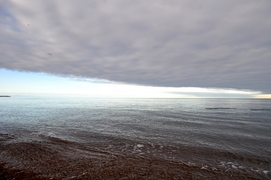 atardecer, ocaso, horizonte, nubes, nube, puerto madryn, dia, playa, costa, cielo, argentina, chubut, paisaje, , naturaleza, fondo, nublado,