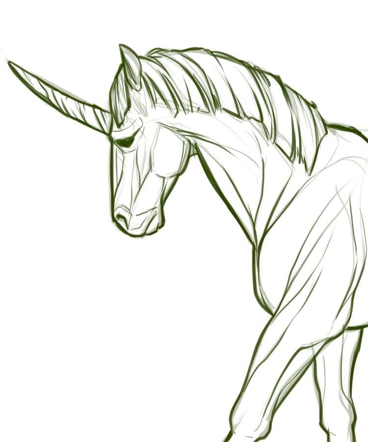 Imagen De Dibujo De Unicornio A Lapiz Foto Gratis 100011160