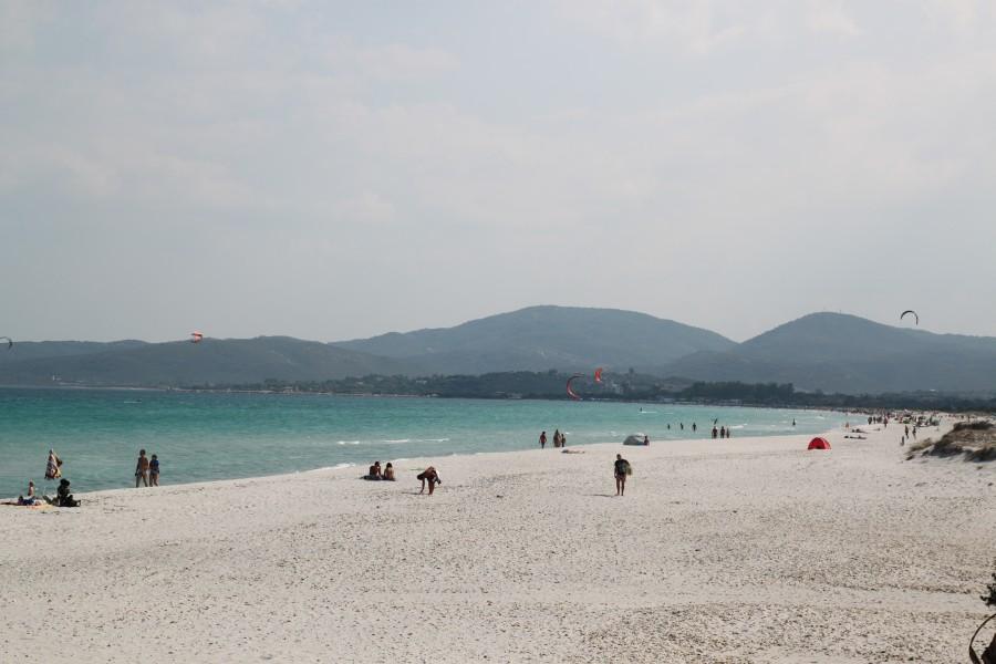 playa, italia, europa, costa, verano, gente, paisaje, Cerdeña, Meditarraneo,