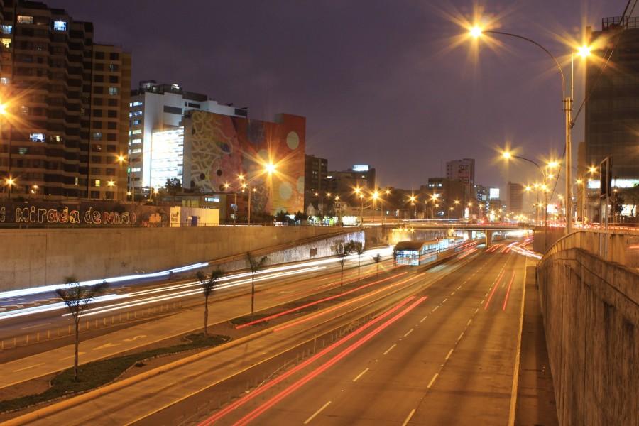 noche, autopista, ruta, ciudad, luz, luces, urbano, autos, lima, peru, via expresa, noche, nocturno,