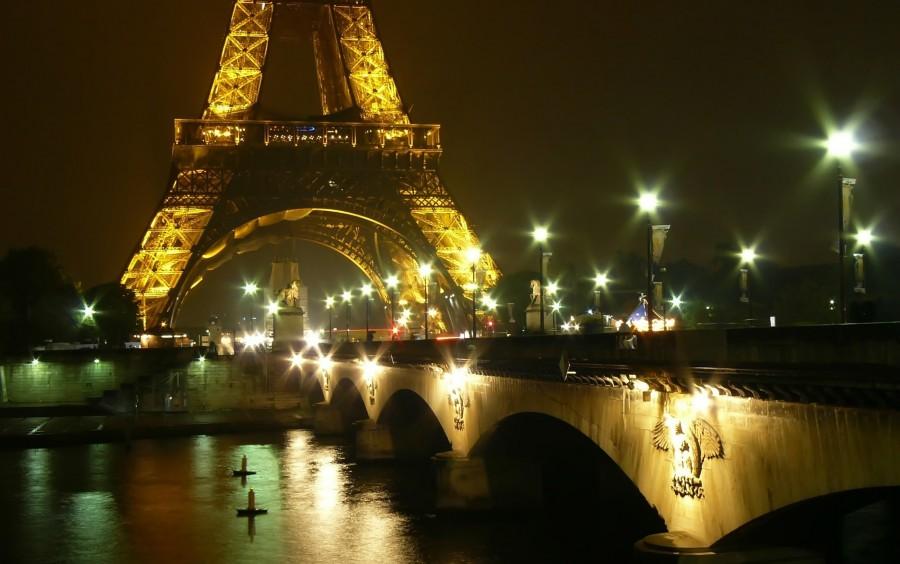 torre eiffel, paris, francia, iluminado, dia, europa, avenida, monumento, rio, sena,  fondos de pantalla hd, fondos de pantalla 4k
