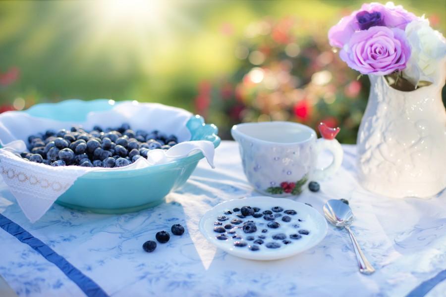 arándanos, crema, postre, desayuno, arándano, los alimentos, baya, frutas, deliciosa, comida, saludable, dieta, merienda, sabroso, dulce, comidas y bebidas, decoracion