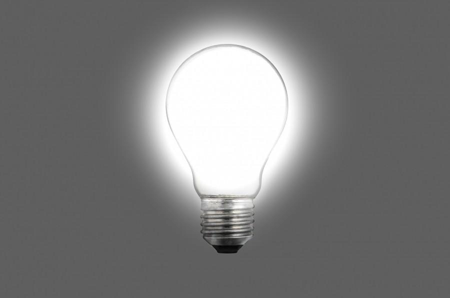 bombilla, lamparita, lampara, idea, concepto, luz, prendido, iluminacion, iluminar, energia, nadie,