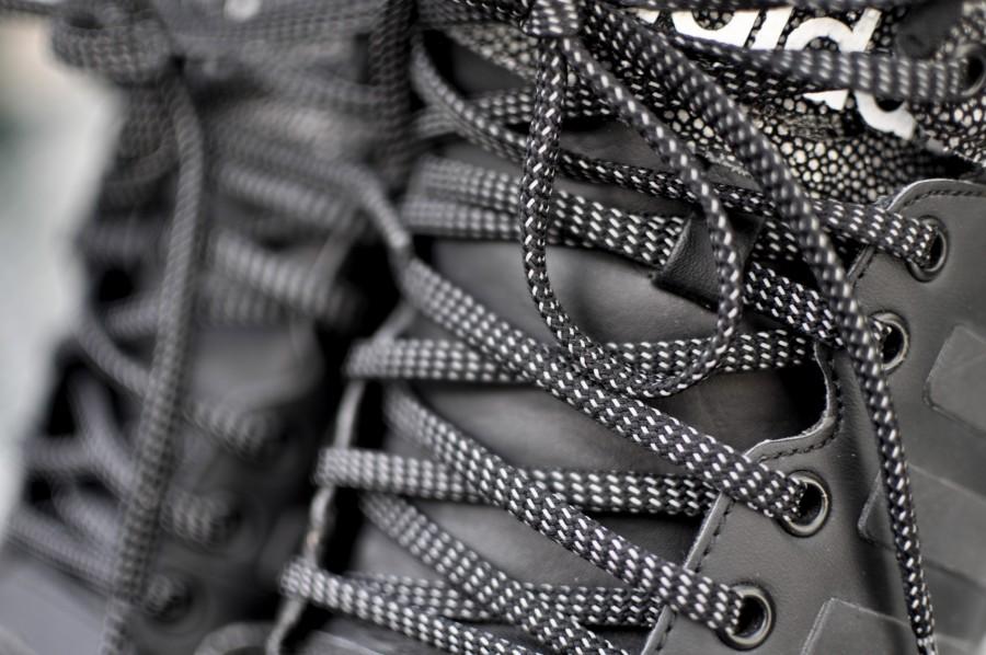 cordones, zapatillas, estilo de vida, macro, moda
