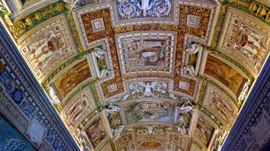 interior, arte, techo, pintura, antiguo, religion, catolica, catolico, vaticano, roma, italia,