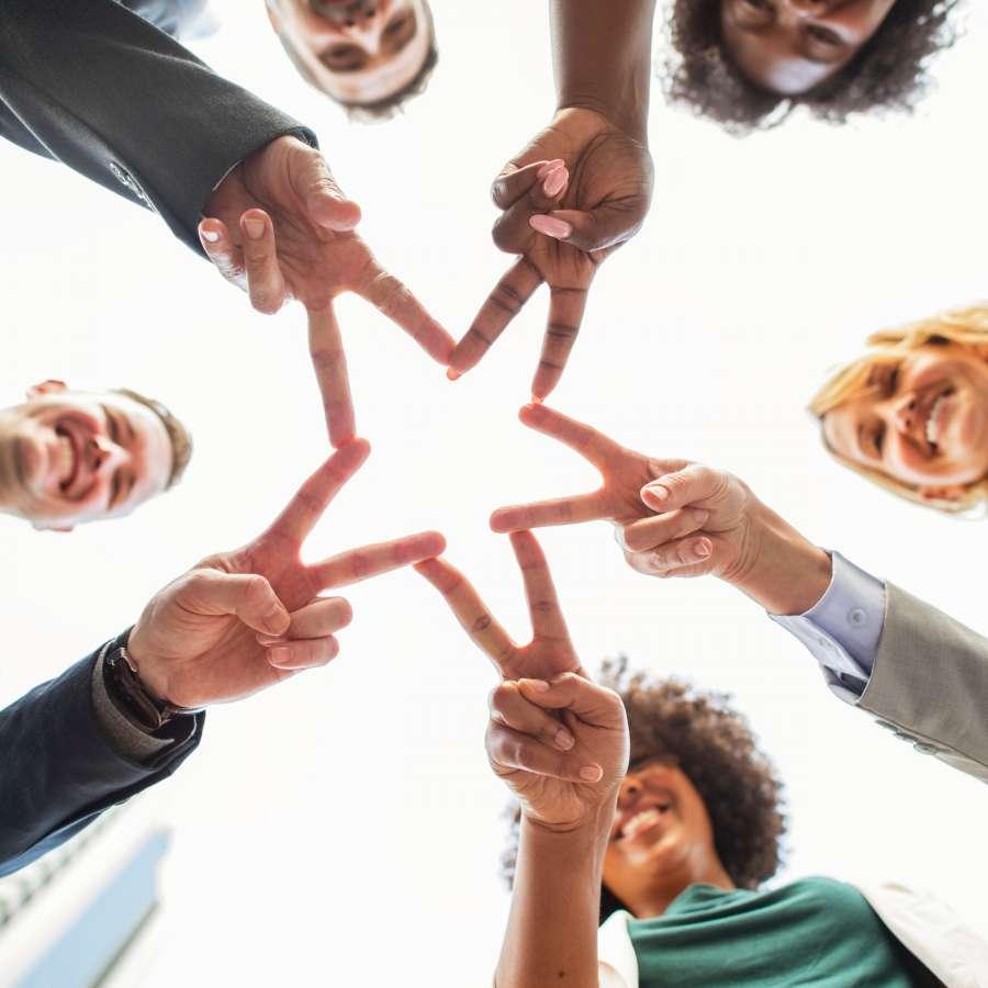 trabajo, equipo, union, concepto, grupo de personas, estrella, exito, unido, negocios, gente, gesto, grupo,