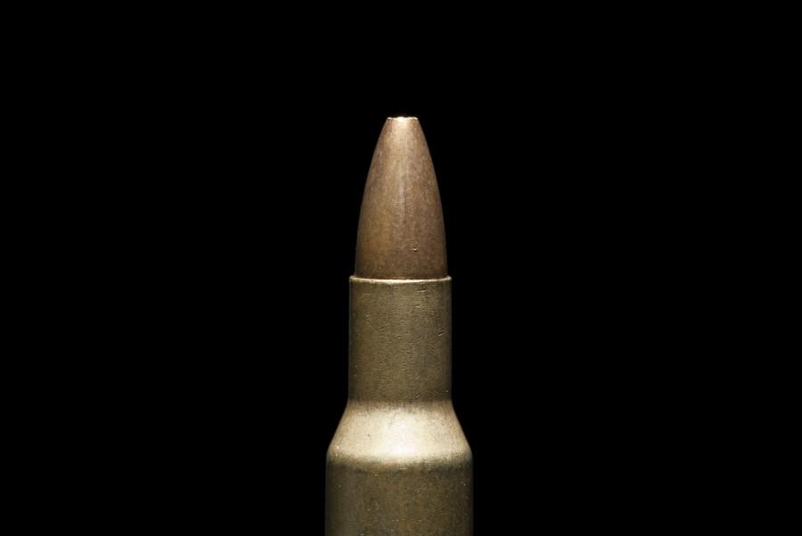 bala, muerte, fondo negro, concepto, primer plano, arma, armamento, casquillo, metal,