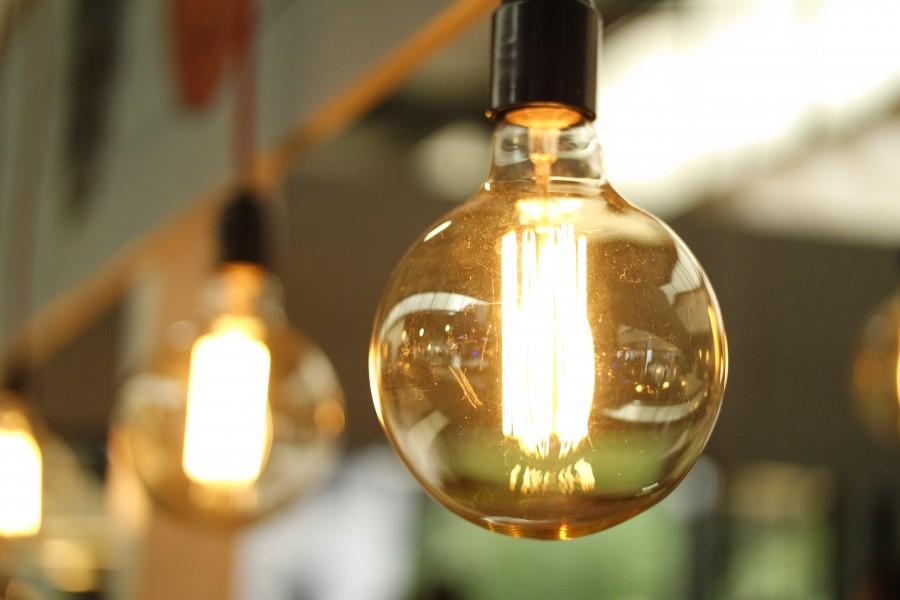 lampara, lamparita, luz, electricidad, idea, nadie, concepeto, filamento, interior, iluminacion, nocturno, noche,