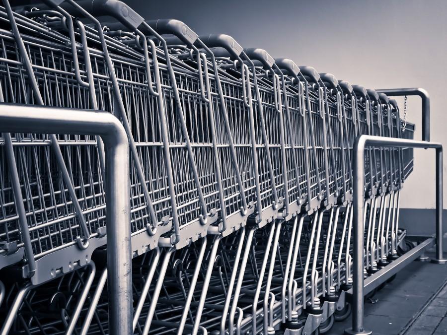 Carros, Shopping, Supermercado, Fila, Carros de supermercado, nadie,