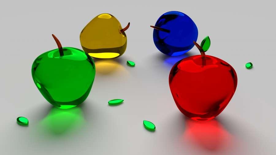 imagen de manzanas de vidrio fondo de pantalla hd