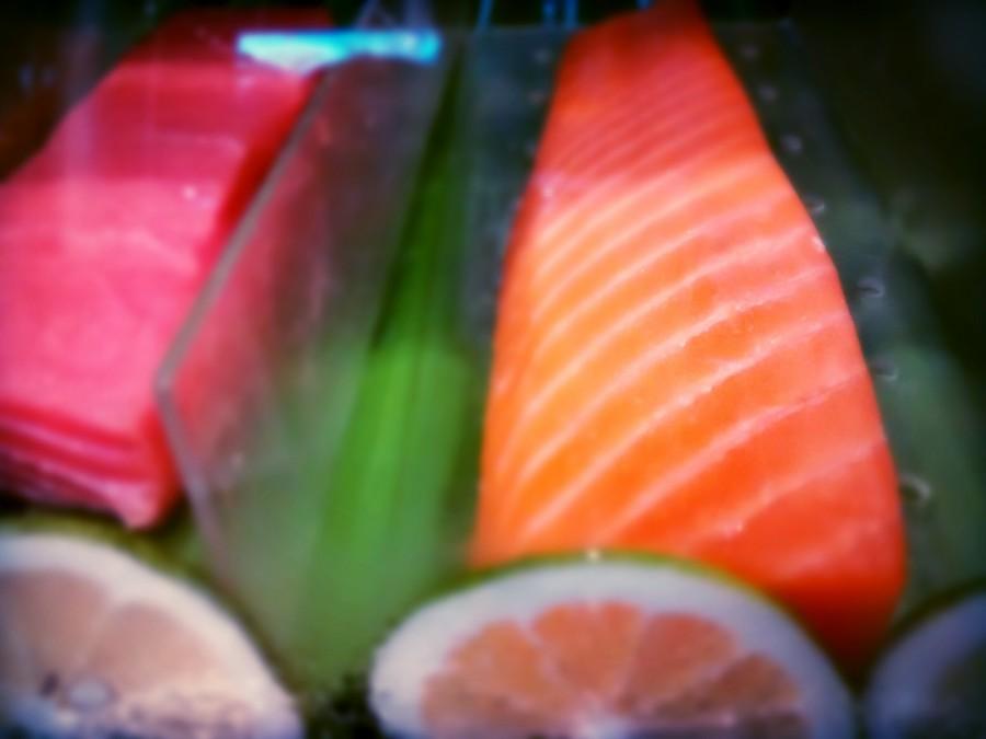 comida, sushi, plato, gourmet, pescado, alimento, japones, japon, oriental, salmon, rosado,