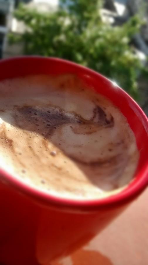 taza, cafe, bebida, dia, exterior, caliente, rojo, roja, leche, primer plano,
