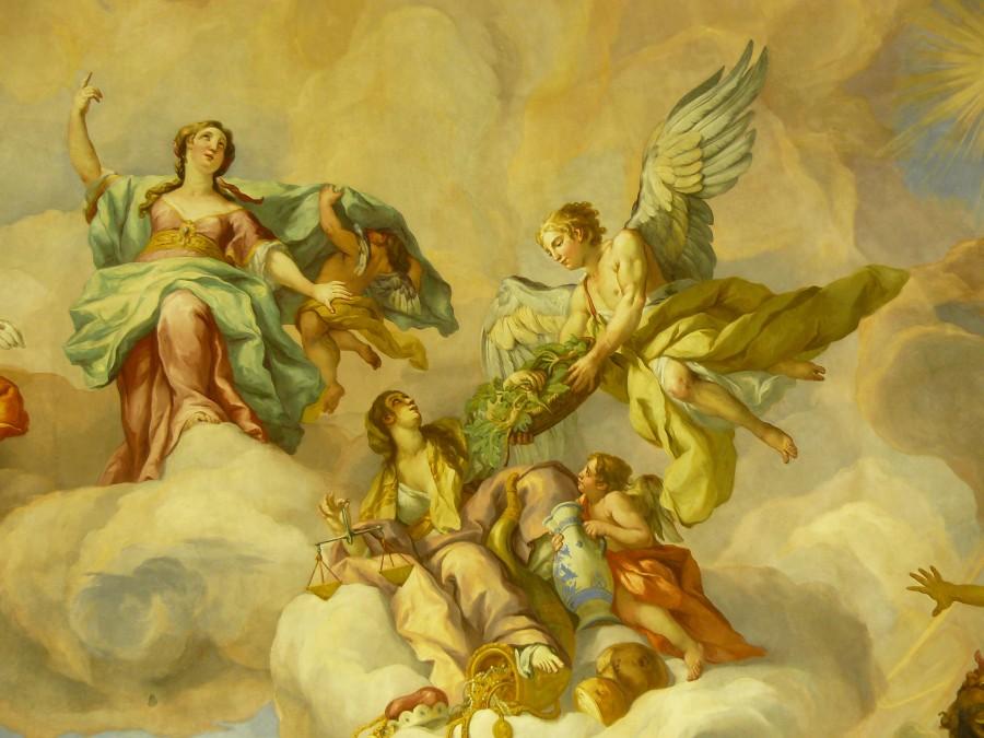 mural, pintura, renacentismo, 1600s, europa, angeles, religion, fresco,
