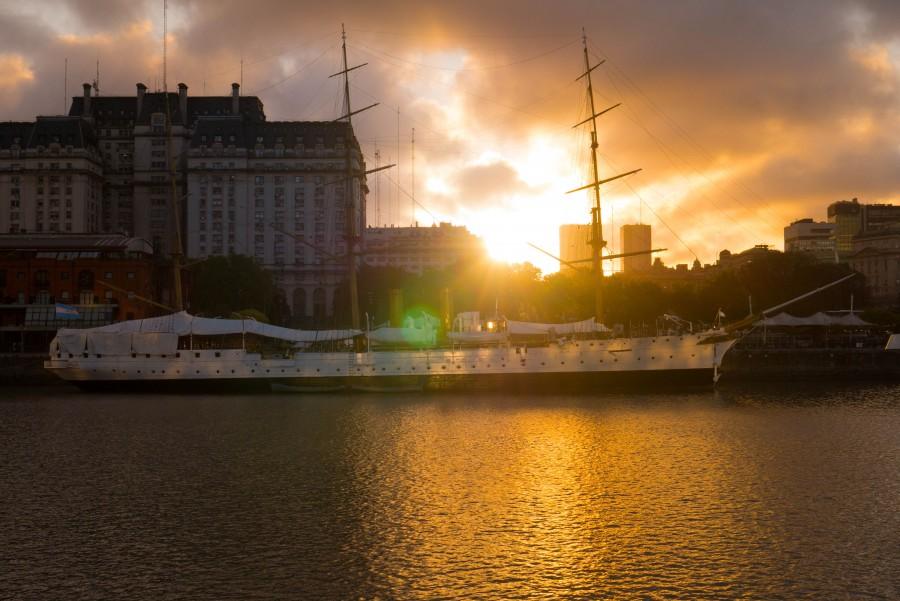 puerto madero, atardecer, buenos aires, argentina, noche, ciudad, arquitectura, fragata,