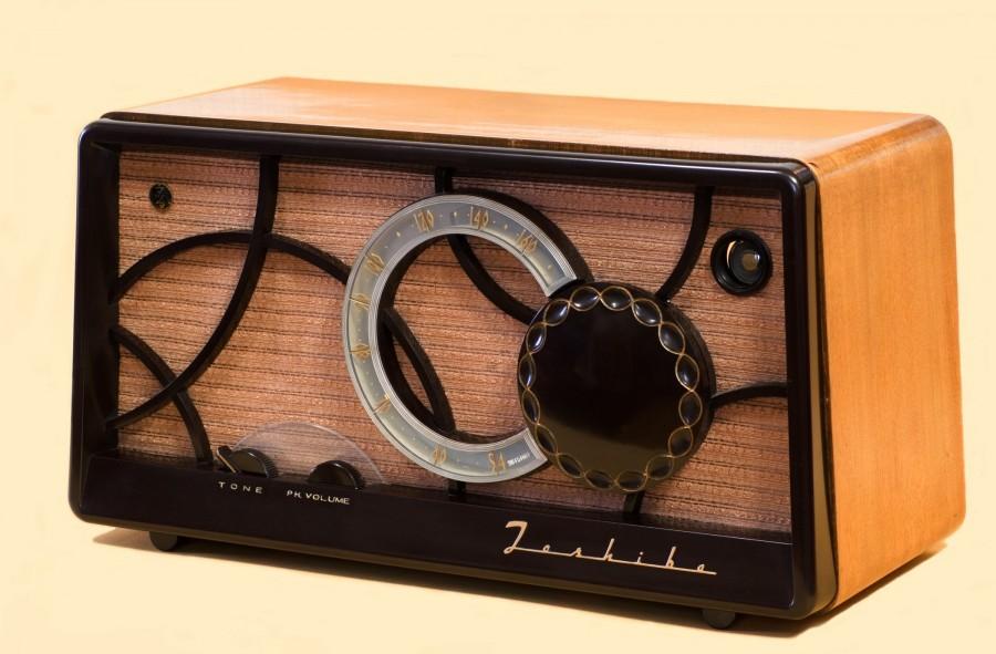 radio, vintage, 50s, spika, madera,