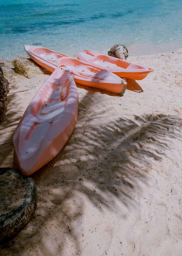 playa, tropical, kayak, exterior, nadie, bote, arena, paisaje,