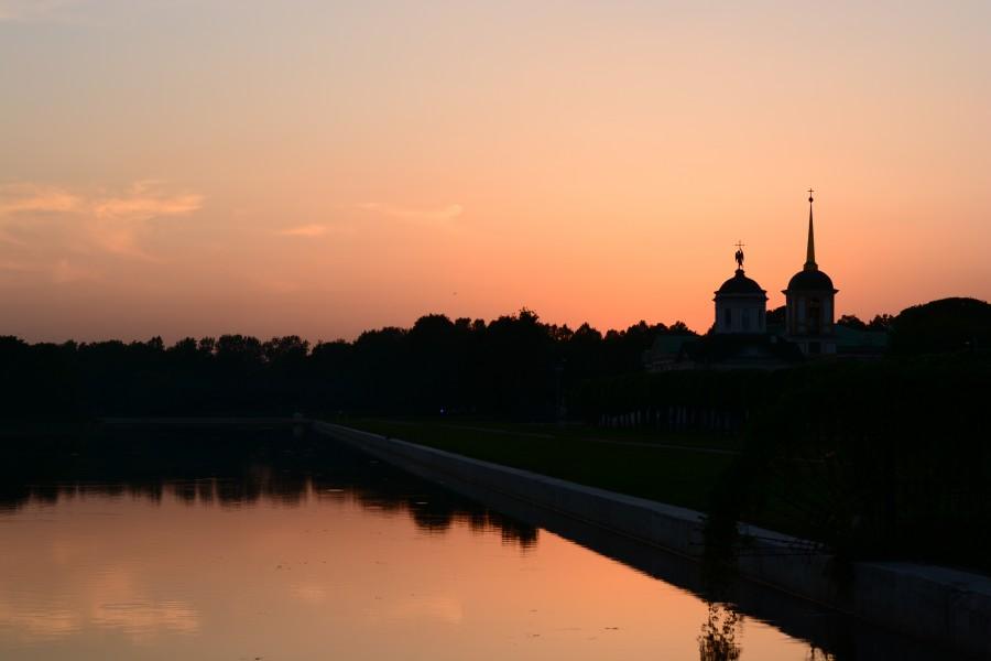 Kuskovo, Moscu, Rusia, atardecer, asia, paisaje, ciudad,