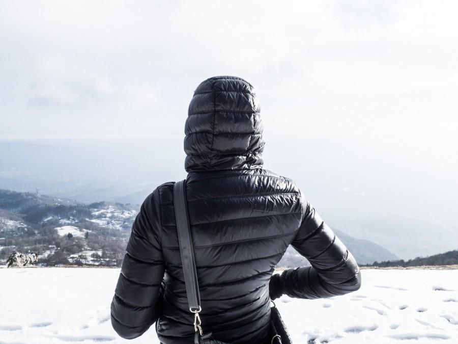 mujer, nieve, invierno, campera, frio, paisaje, viaje, viajar, vacaciones,