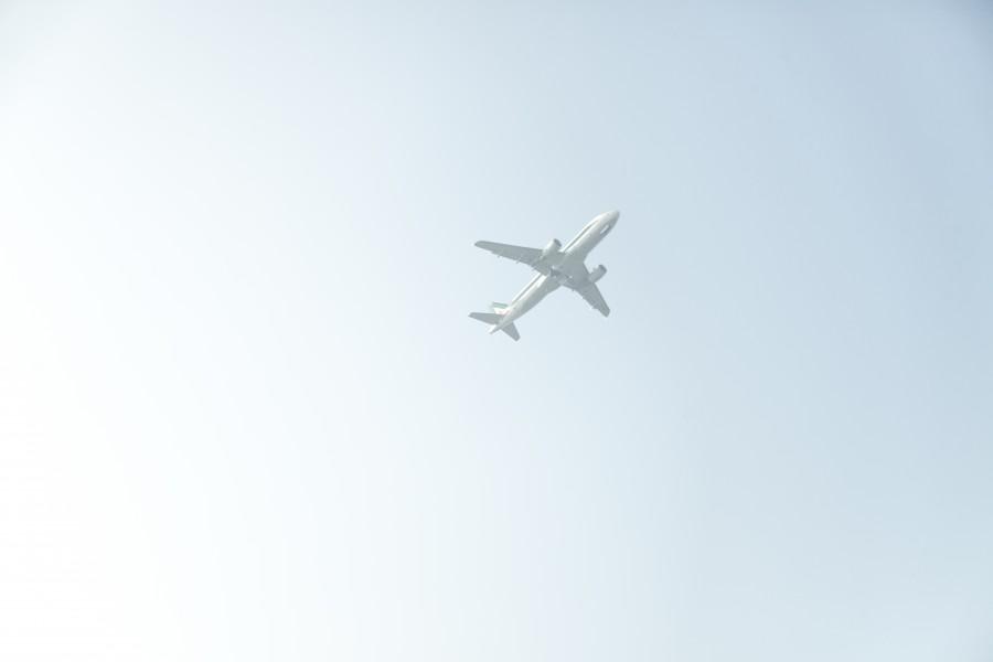 avion, volando, cielo, transporte, pasajeros,