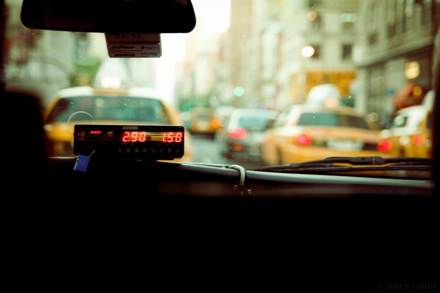 taxi, reloj, tarifa, ciudad, transporte, interior, viajar,