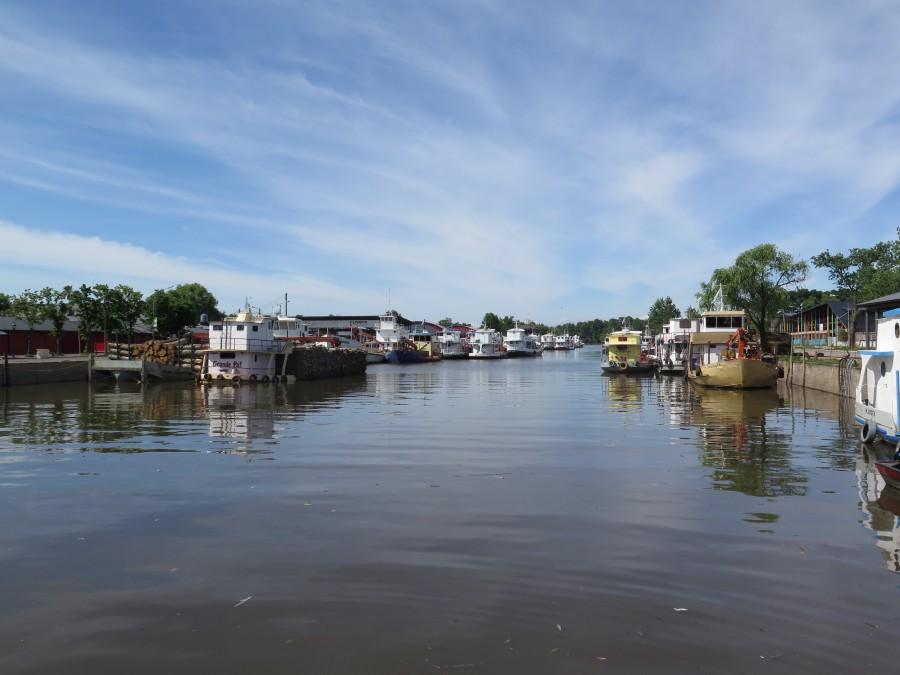 puerto de frutos, tigre, buenos aires, argentina, dia, paisaje, verano, lancha, barco, barcos,