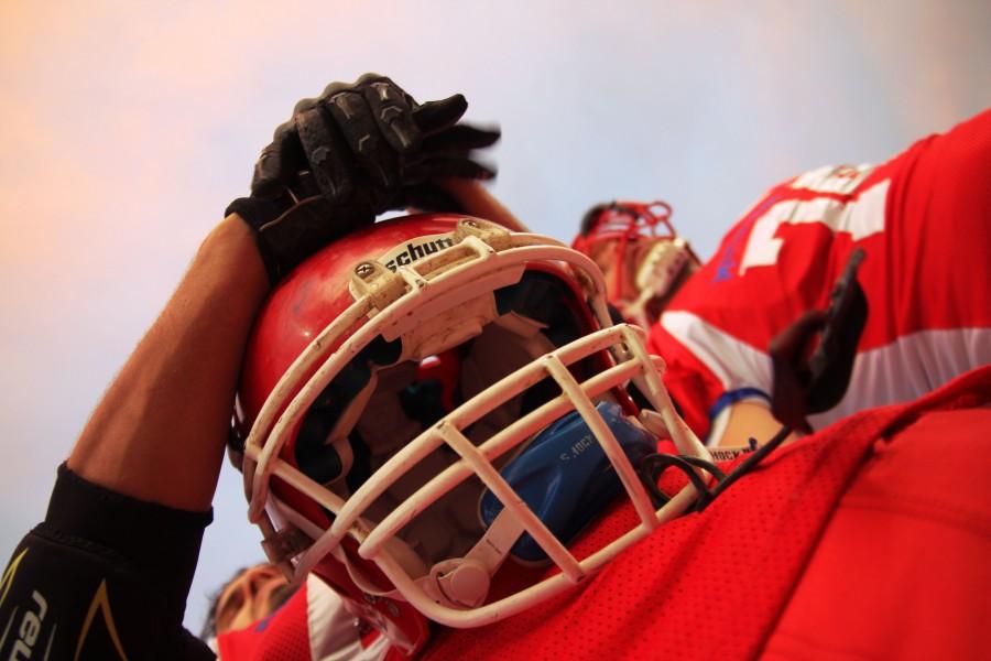 deporte, futbol, futbol americano, una persona, casco, rojo, proteccion, indumentaria, juego,