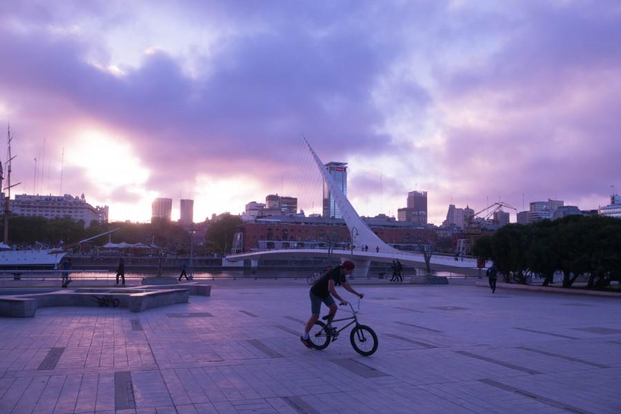 puerto madero, buenos aires, night, sunset, puente de la mujer, bridge, libertad, city, architecture, dock, bay,