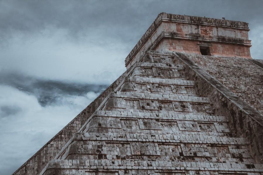 Viaje, arquitectura, méxico, piedra, edificio, paso, antiguo
