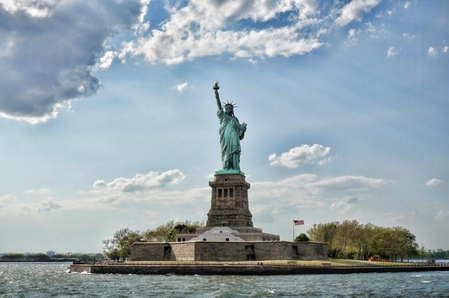 estatua, libertad, usa, nueva york, estados unidos, paisaje, famoso, arquitectura, maravilla, monumento, isla de la libertad, símbolo, estructura, las siete maravillas del mundo