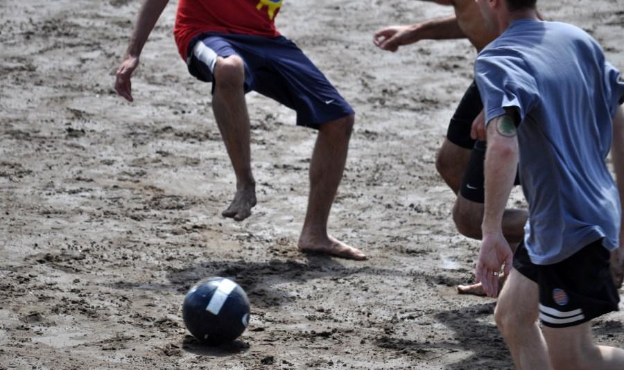 beachday, Playa, arena, pelota, futbol, jugar, jugando, deporte
