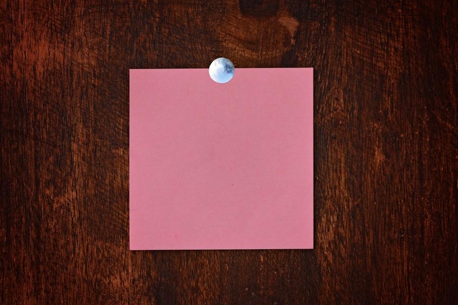 anotador, primer plano, papel, vacio, concepto, nota, papel, rojo, memo,