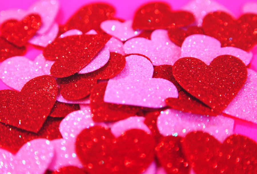 amor, corazon, corazones, papel, brillante, rojo, purpura, violeta, color, colores, concepto, cortar, decoracion, fondo, background,