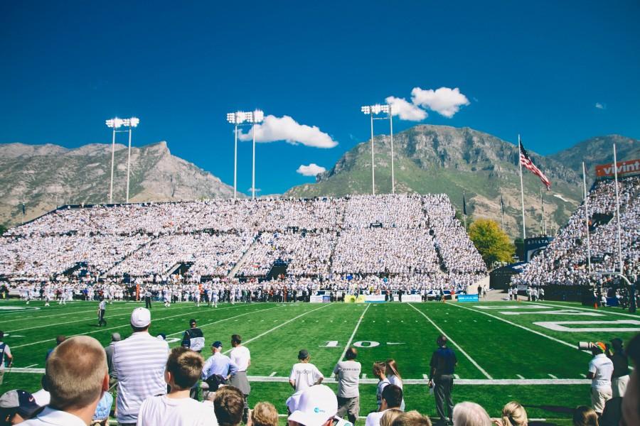 cancha, estadio, futbol, americano, publico, gente, tribuna, aficionados, fans,