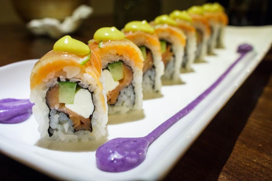 comida, sushi, plato, gourmet, pescado, alimento, japones, japon, oriental, nori, popular, almuerzo, cena, comida marina, arroz, sashimi, americano, asia, maki, salmon, variedad,
