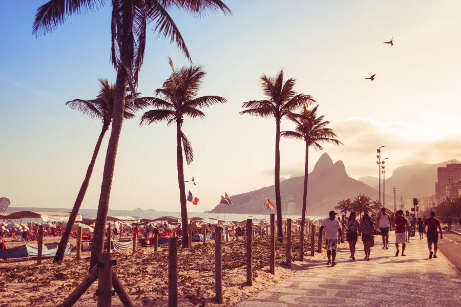 Rio de Janeiro, brasil, dia, costa, playa, gente, america del sur, ipanema,