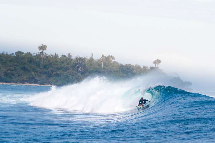 ola, agua, azul, mar, fondo, background, surf, una persona, surfer, tropical, costa, deporte, tunel,