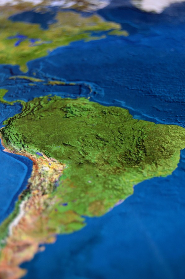 america, mapa, america del sur, relieve, textura, mundo, oceano atlantico, primer plano, nadie,