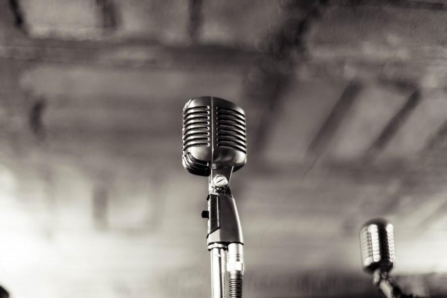 microfono, soporte, grabacion, estudio, musica, garaje, entretenimiento, blanco y negro,