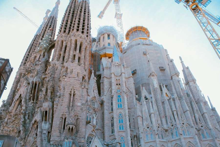Sagrada Familia, catedral, iglesia, barcelona, espana, gaudi, arquitectura, europa, lugar famoso,