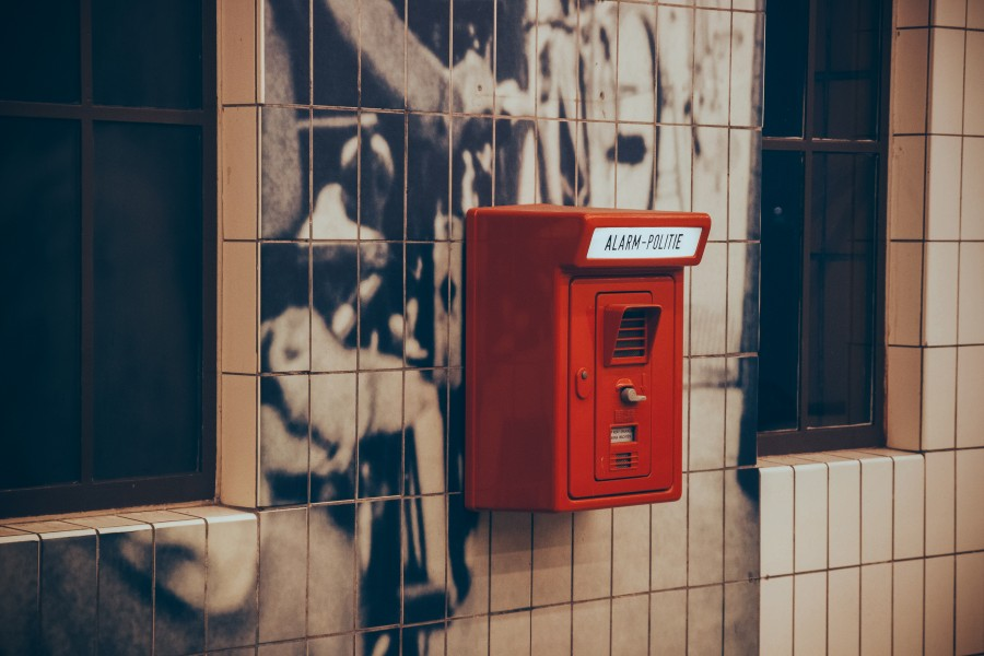 alarma, telefono, cabina, telefonica, rojo, publico, antiguo,