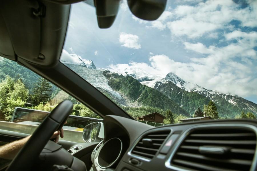 conducir, auto, montaña, paisaje, viaje, vacaciones, punto de vista, interior, carro, vehiculo, manejar, viaje, viajar,