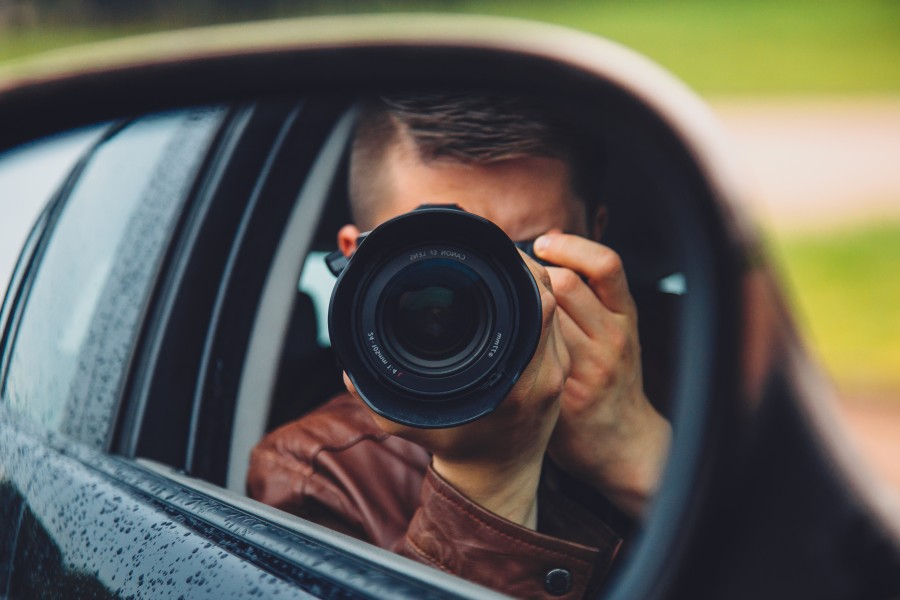 camara, fotografo, fotografia, lente, espejo, individuo, hombre, gente, coche, paparazzi, prensa, social, oculto,