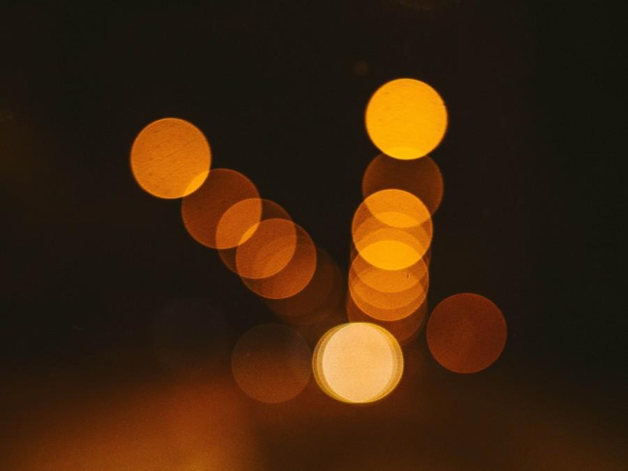 luces, borroso, abstracto, noche, oscuro, noche,