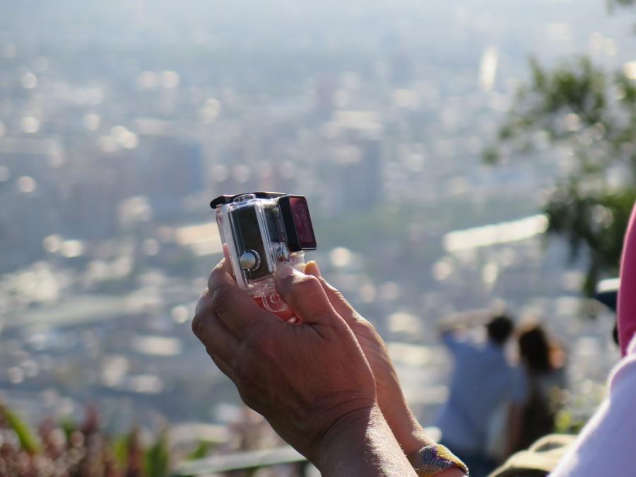 go pro, mujer, una persona, gente, camara, selfie, paisaje, tecnologia, fotografia,